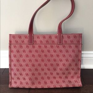 NEW Dooney & Bourke Red Signature leather & canvas